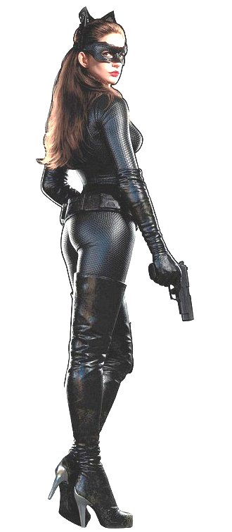 Anne Hathaway en catwoman dans The Dark Knight Rises