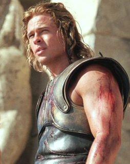 Bradd Pitt dans le rôle d'Achille